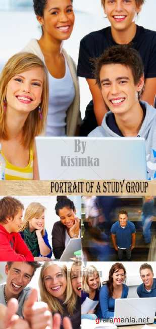 Stock Photo: Portrait of a study group