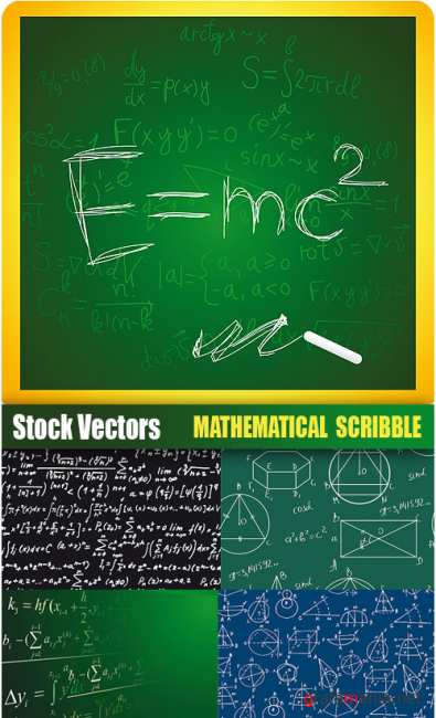 Stock Vectors - Math scribble