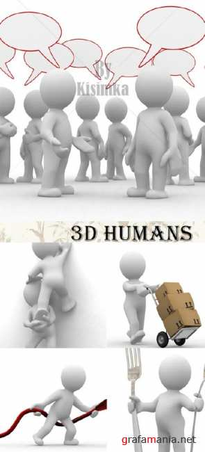 Stock Photo:3D humans
