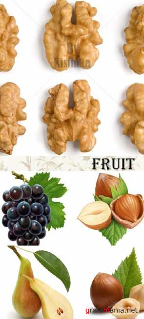 Stock Photo: Fruits and nuts