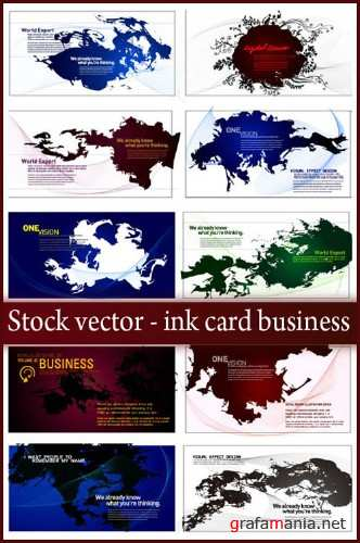 Stock vector - ink card business