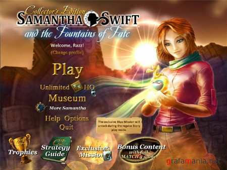 Samantha Swift and the Fountains of Fate: Collector's Edition(2010/ENG/FINAL)