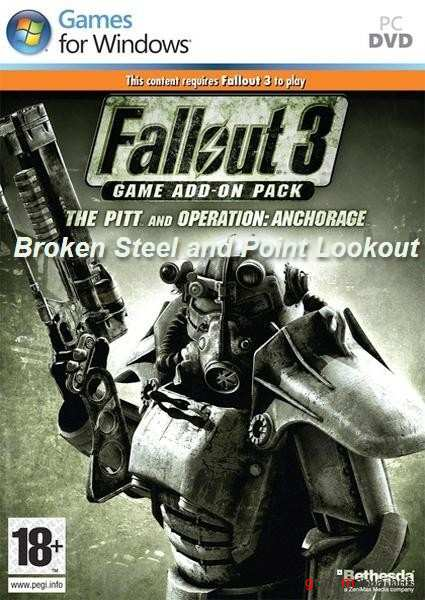 Fallout 3: Broken Steel + Point Lookout + Operation: Anchorage + The Pitt (2010/RUS/Add-on/Repack)