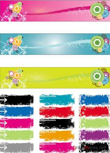 Horizontal Vector Banners 2 - Stock Vectors