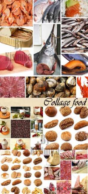 Stock Photo: Collage food