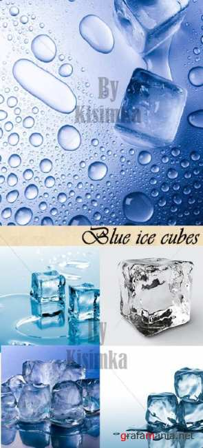 Stock Photo:Blue ice cubes