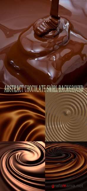 Stock Photo: Abstract chocolate swirl background