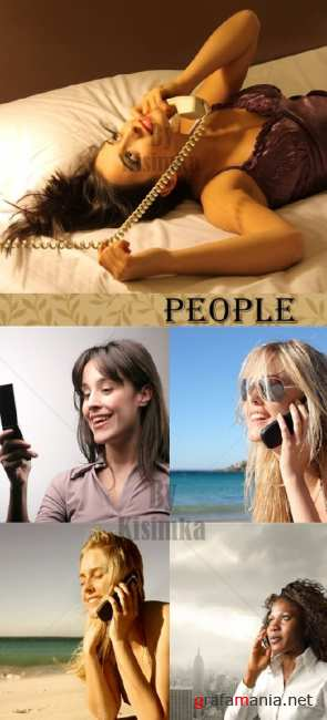Stock Photo:People and mobile