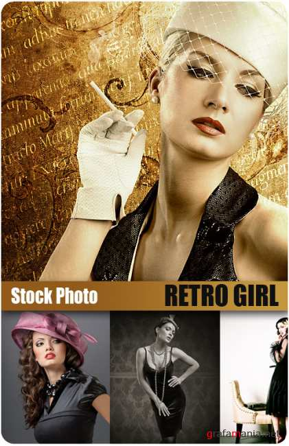 UHQ Stock Photo - Retro Girl