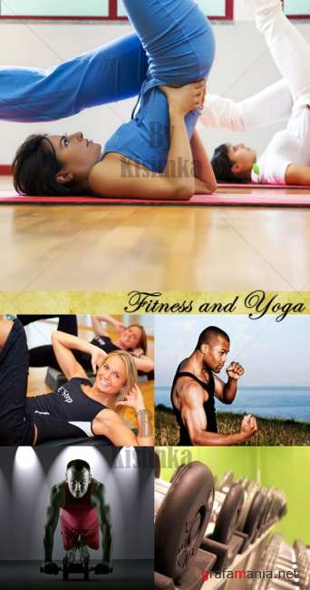 Stock Photo: Fitness and Yoga
