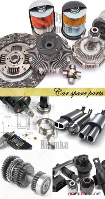 Stock Photo: Car spare parts