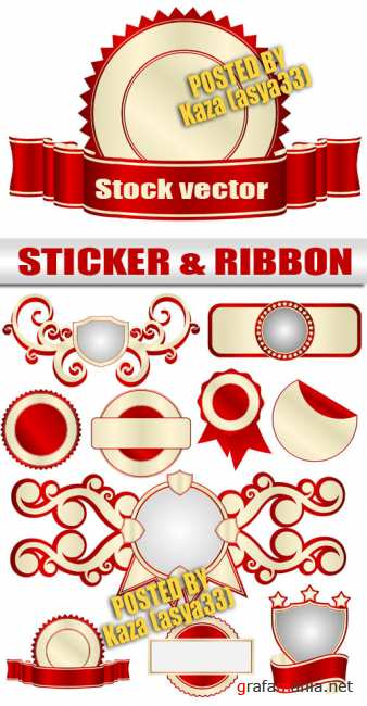 Sticker & ribbon