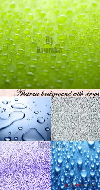Stock Photo: Abstract background with drops