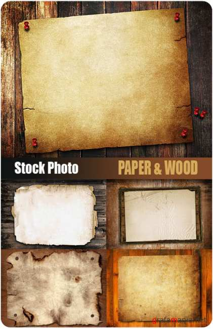UHQ Stock Photo - Paper & Wood