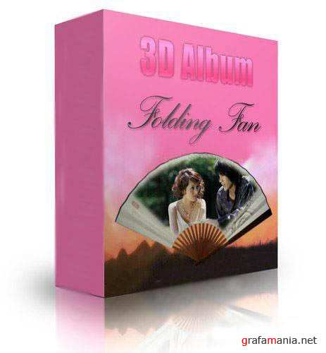 3D Photo Album for Wedding - Folding Fan