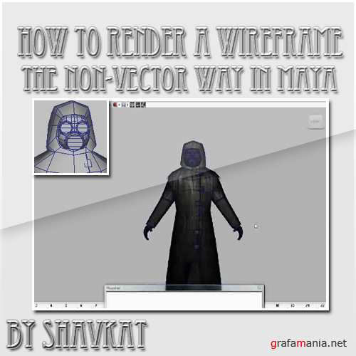 How to render a wireframe the non-vector way in Maya