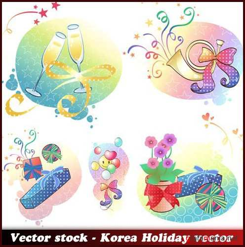 Vector stock - Korea Holiday vector