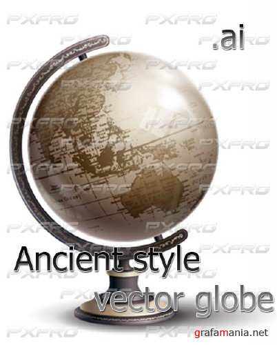 Ancient style vector globe