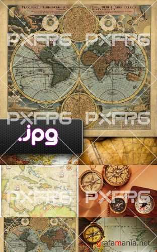 High quality fotos of ancient style maps