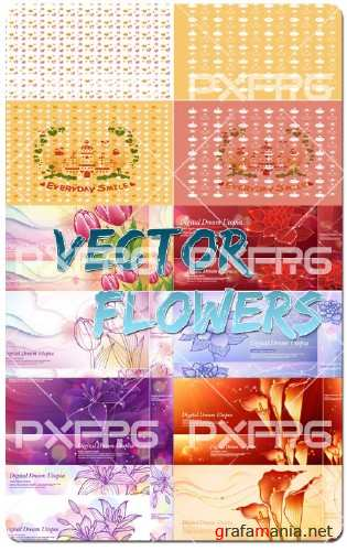 Vector Flowers Backgrounds
