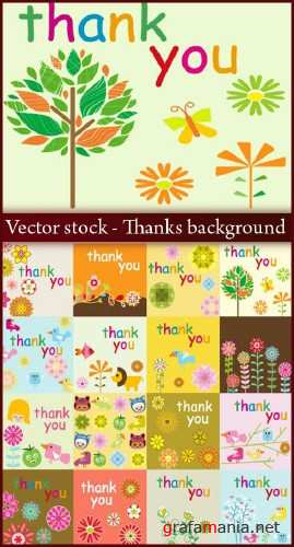 Thanks background - Vector stock
