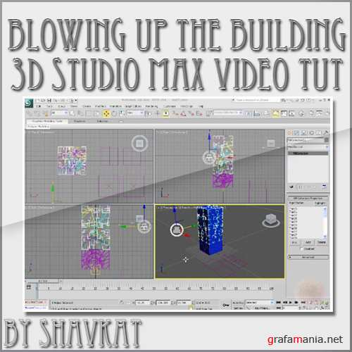 Blowing up the building in 3Ds max