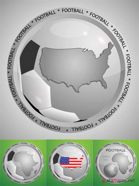 Football Design Vector Stamps