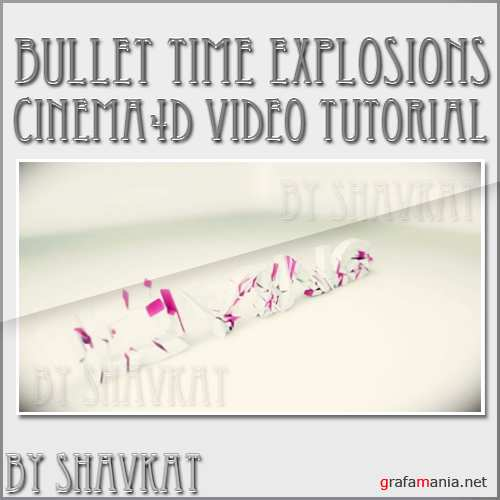 Bullet time explosions Cinema4D+After effects tutorial