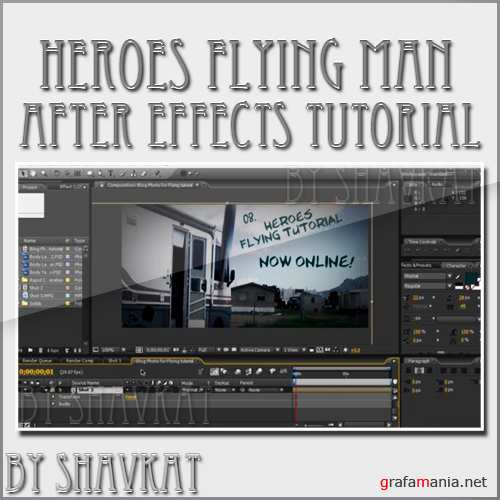 Recreating flying man effect from Heroes movie : After effects tutorial