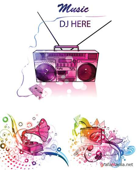 Colorful Music Vector Posters