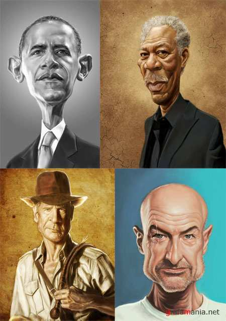 Funny Caricatures by Mark Hammermeister