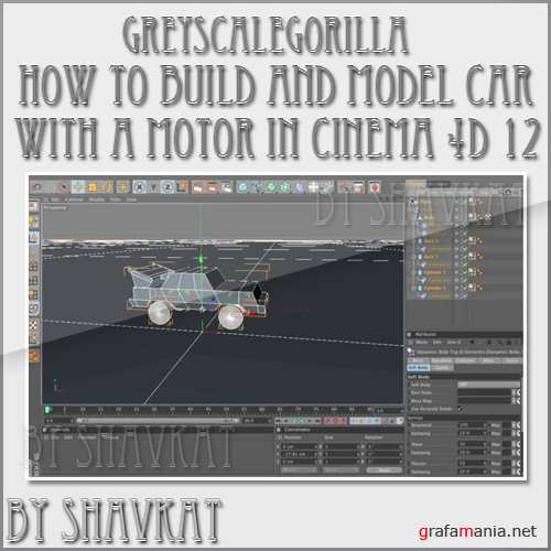 How to Build and Model A Car Driven With A Motor in Cinema 4D 12