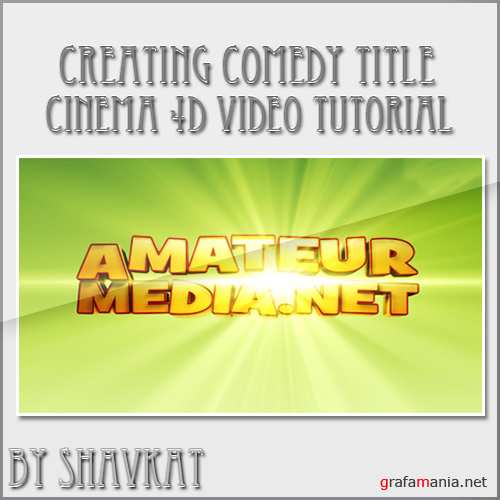 Comedy Titles in Cinema 4D Tutorial by Alexander Alexandrov