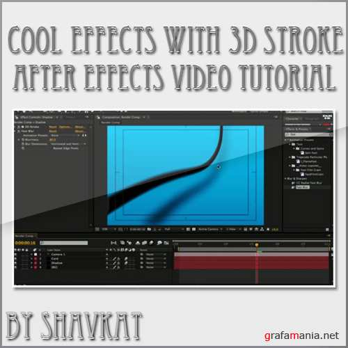 After Effects: 3D Stroke