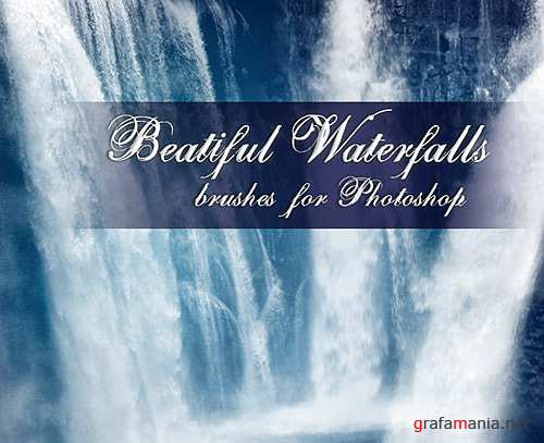 Beautiful Waterfall Brushes for Photoshop