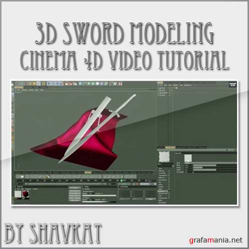 3D Sword Modeling Cinema 4D Tutorial