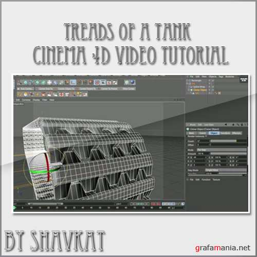 Cinema 4d: Animating the treads of a tank using xpresso and only 2 keyframes!