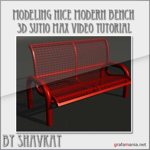 Bench Modeling - 3D Studio Max Tutorial