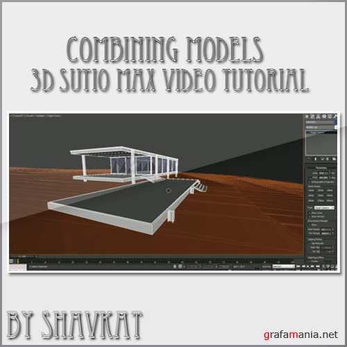 3ds max combining models