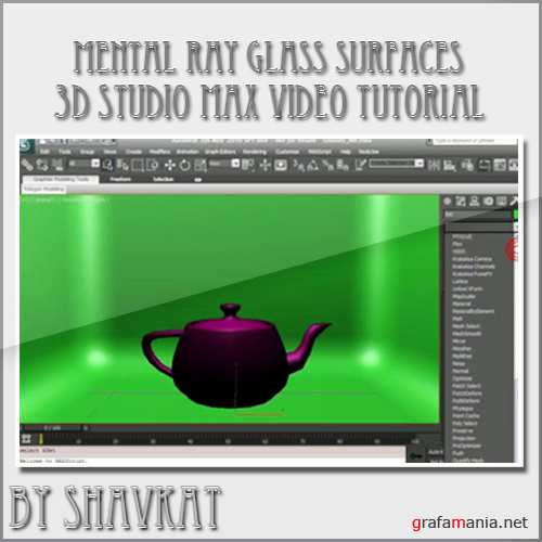 Mental Ray Glass Surfaces in 3D Studio Max 2010