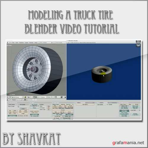 Modeling a Truck Tire in Blender