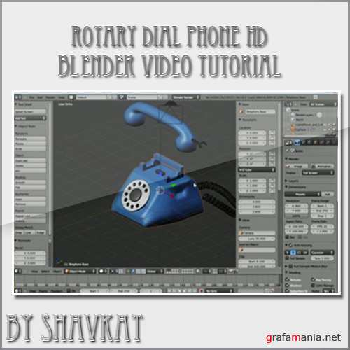 Project Video Tour Rotary Dial Phone HD in Blender
