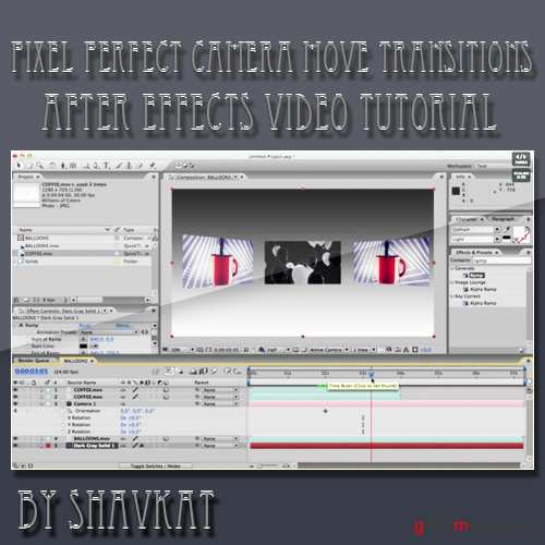 After Effects Tutorial - Pixel Perfect Camera Move Transitions