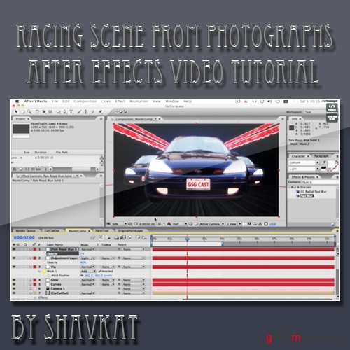 After Effects Tutorial - Build a Car Racing scene from Photographs