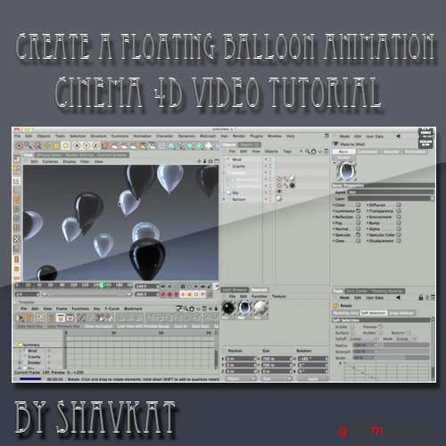 Create a Floating Balloon Animation Using HDRI Lighting and Particles in Cinema 4D