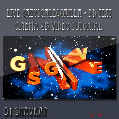 Live Tutorial - 3D Text in Cinema 4D