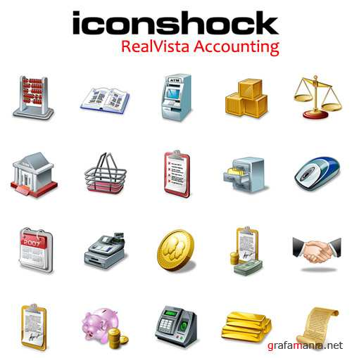 IconShock RealVista Accounting (Vector Icons)