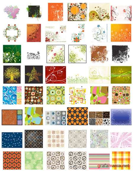 Patterns and Backgrounds Vector Collection