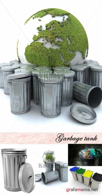 Stock Photo: Garbage tank