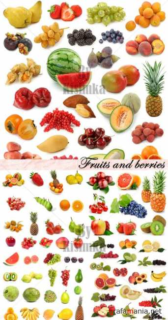 Stock Photo: Fruits and berries